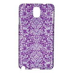 Damask2 White Marble & Purple Denim Samsung Galaxy Note 3 N9005 Hardshell Case by trendistuff