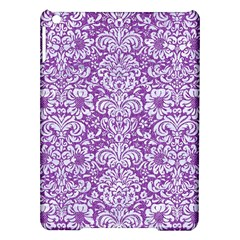 Damask2 White Marble & Purple Denim Ipad Air Hardshell Cases by trendistuff