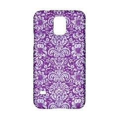 Damask2 White Marble & Purple Denim Samsung Galaxy S5 Hardshell Case  by trendistuff