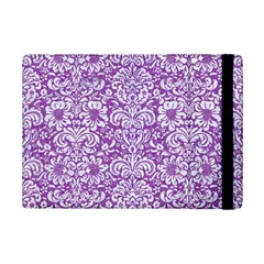 Damask2 White Marble & Purple Denim Ipad Mini 2 Flip Cases