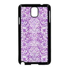 Damask2 White Marble & Purple Denim Samsung Galaxy Note 3 Neo Hardshell Case (black) by trendistuff