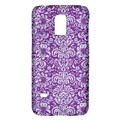 Damask2 White Marble & Purple Denim Galaxy S5 Mini by trendistuff