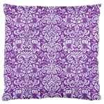 DAMASK2 WHITE MARBLE & PURPLE DENIM Standard Flano Cushion Case (One Side) Front