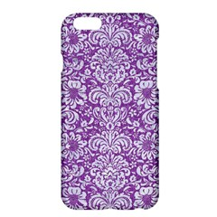 Damask2 White Marble & Purple Denim Apple Iphone 6 Plus/6s Plus Hardshell Case