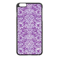 Damask2 White Marble & Purple Denim Apple Iphone 6 Plus/6s Plus Black Enamel Case by trendistuff