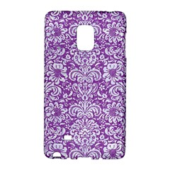 Damask2 White Marble & Purple Denim Galaxy Note Edge by trendistuff