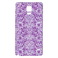 Damask2 White Marble & Purple Denim Galaxy Note 4 Back Case