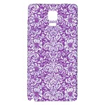 DAMASK2 WHITE MARBLE & PURPLE DENIM Galaxy Note 4 Back Case Front
