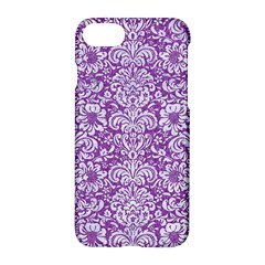Damask2 White Marble & Purple Denim Apple Iphone 7 Hardshell Case by trendistuff