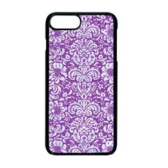 Damask2 White Marble & Purple Denim Apple Iphone 7 Plus Seamless Case (black) by trendistuff