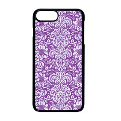 Damask2 White Marble & Purple Denim Apple Iphone 8 Plus Seamless Case (black)