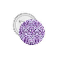 DAMASK1 WHITE MARBLE & PURPLE DENIM (R) 1.75  Buttons