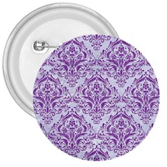 DAMASK1 WHITE MARBLE & PURPLE DENIM (R) 3  Buttons