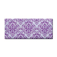 DAMASK1 WHITE MARBLE & PURPLE DENIM (R) Cosmetic Storage Cases