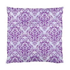 DAMASK1 WHITE MARBLE & PURPLE DENIM (R) Standard Cushion Case (One Side)