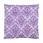 DAMASK1 WHITE MARBLE & PURPLE DENIM (R) Standard Cushion Case (Two Sides) Back