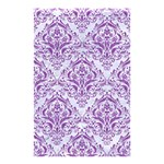 DAMASK1 WHITE MARBLE & PURPLE DENIM (R) Shower Curtain 48  x 72  (Small)  42.18 x64.8 Curtain