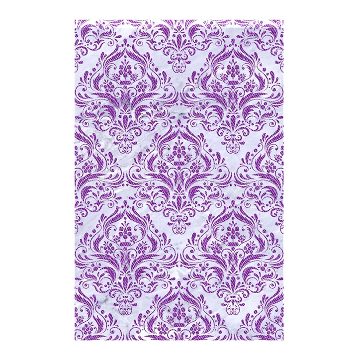 DAMASK1 WHITE MARBLE & PURPLE DENIM (R) Shower Curtain 48  x 72  (Small)