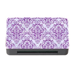 Damask1 White Marble & Purple Denim (r) Memory Card Reader With Cf by trendistuff