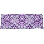 DAMASK1 WHITE MARBLE & PURPLE DENIM (R) Body Pillow Case (Dakimakura) Body Pillow Case