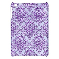 Damask1 White Marble & Purple Denim (r) Apple Ipad Mini Hardshell Case