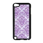 DAMASK1 WHITE MARBLE & PURPLE DENIM (R) Apple iPod Touch 5 Case (Black) Front