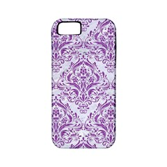 Damask1 White Marble & Purple Denim (r) Apple Iphone 5 Classic Hardshell Case (pc+silicone) by trendistuff