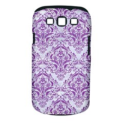 DAMASK1 WHITE MARBLE & PURPLE DENIM (R) Samsung Galaxy S III Classic Hardshell Case (PC+Silicone)