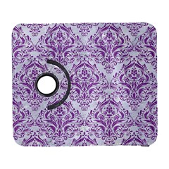Damask1 White Marble & Purple Denim (r) Galaxy S3 (flip/folio) by trendistuff