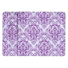 Damask1 White Marble & Purple Denim (r) Samsung Galaxy Tab 10 1  P7500 Flip Case