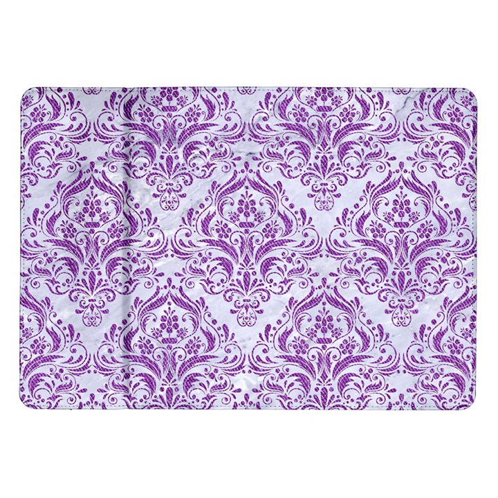 DAMASK1 WHITE MARBLE & PURPLE DENIM (R) Samsung Galaxy Tab 10.1  P7500 Flip Case