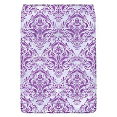 Damask1 White Marble & Purple Denim (r) Flap Covers (l)  by trendistuff