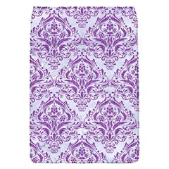Damask1 White Marble & Purple Denim (r) Flap Covers (s)  by trendistuff