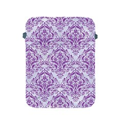 DAMASK1 WHITE MARBLE & PURPLE DENIM (R) Apple iPad 2/3/4 Protective Soft Cases