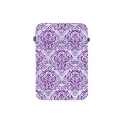 DAMASK1 WHITE MARBLE & PURPLE DENIM (R) Apple iPad Mini Protective Soft Cases