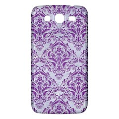 Damask1 White Marble & Purple Denim (r) Samsung Galaxy Mega 5 8 I9152 Hardshell Case  by trendistuff