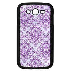 Damask1 White Marble & Purple Denim (r) Samsung Galaxy Grand Duos I9082 Case (black) by trendistuff