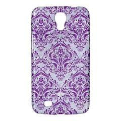 Damask1 White Marble & Purple Denim (r) Samsung Galaxy Mega 6 3  I9200 Hardshell Case by trendistuff
