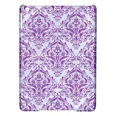 Damask1 White Marble & Purple Denim (r) Ipad Air Hardshell Cases by trendistuff