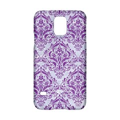 Damask1 White Marble & Purple Denim (r) Samsung Galaxy S5 Hardshell Case
