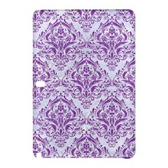 Damask1 White Marble & Purple Denim (r) Samsung Galaxy Tab Pro 12 2 Hardshell Case by trendistuff
