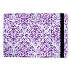 Damask1 White Marble & Purple Denim (r) Samsung Galaxy Tab Pro 10 1  Flip Case