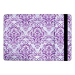 DAMASK1 WHITE MARBLE & PURPLE DENIM (R) Samsung Galaxy Tab Pro 10.1  Flip Case Front