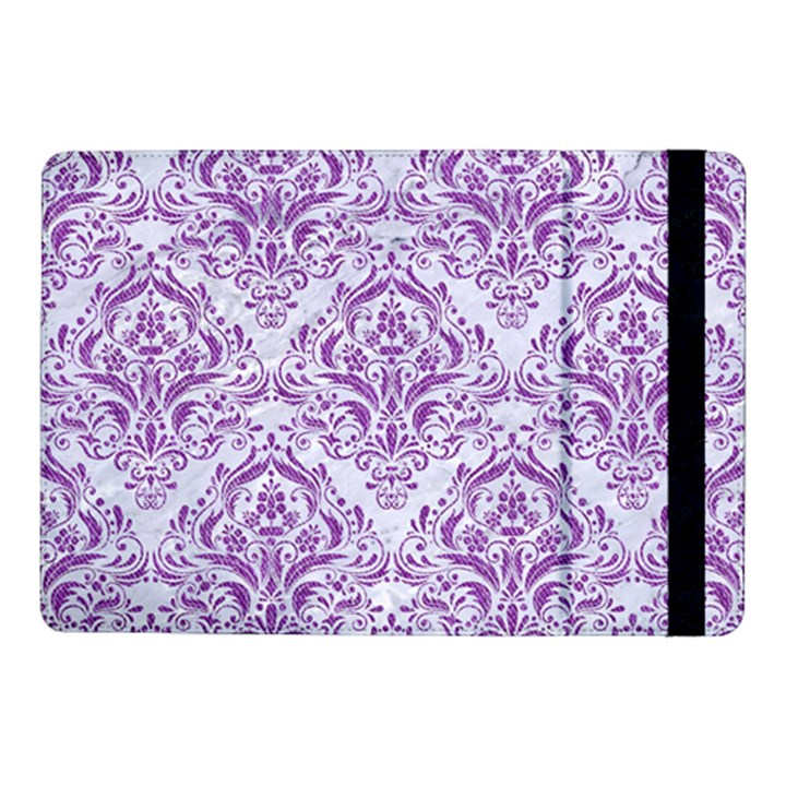 DAMASK1 WHITE MARBLE & PURPLE DENIM (R) Samsung Galaxy Tab Pro 10.1  Flip Case