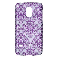 Damask1 White Marble & Purple Denim (r) Galaxy S5 Mini by trendistuff