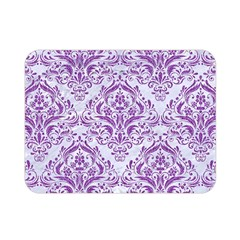 DAMASK1 WHITE MARBLE & PURPLE DENIM (R) Double Sided Flano Blanket (Mini)