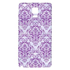 DAMASK1 WHITE MARBLE & PURPLE DENIM (R) Galaxy Note 4 Back Case