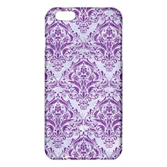 Damask1 White Marble & Purple Denim (r) Iphone 6 Plus/6s Plus Tpu Case by trendistuff