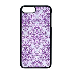 Damask1 White Marble & Purple Denim (r) Apple Iphone 7 Plus Seamless Case (black) by trendistuff