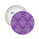 DAMASK1 WHITE MARBLE & PURPLE DENIM 2.25  Buttons Front